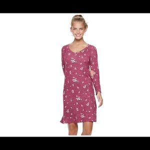 SO junior floral print sheath dress XL dandtypink